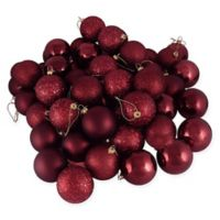 Northlight® 36-Pack Christmas Ball Ornaments in Burgundy