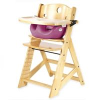 Keekaroo® Height Right High Chair Natural with Raspberry Infant Insert and Tray