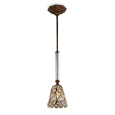 ELK Lighting Mar-a-Lago™ Senecal 1-Light Pendant in Spanish Bronze
