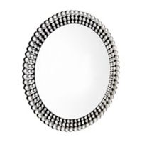 Abbyson Living® Joslyn 35.4-Inch Round Wall Mirror in Silver