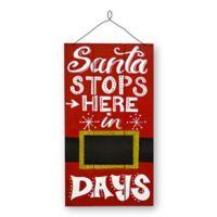 National Tree Company Santa Countdown Wall Art
