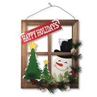 "National Tree Company ""Happy Holidays"" Window Pane Wall Art"
