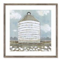 Mill Creek Farm Silo 24.5-Inch Square Framed Wall Art