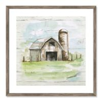 Rustic Barn 24.5-Inch Square Framed Wall Art
