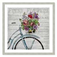 Fresh Flowers Bicycle 33-Inch Framed Wall Art