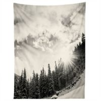 Deny Designs Bird Wanna Whistle Mountain 80-Inch x 60-Inch Tapestry in Black