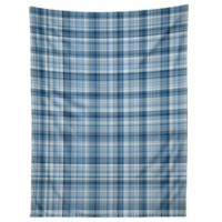 Deny Designs Lisa Argyropoulos Winter Blue Plaid 80-Inch x 60-Inch Tapestry