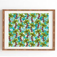 Deny Designs Aimee St. Hill Tropical Christmas 14-Inch x 16.5-Inch Framed Wall Art