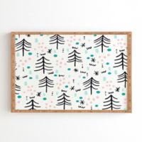 Deny Designs Winter Wander 20-Inch Square Framed Wall Art