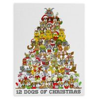 Deny Designs Holiday Dogs 8-Inch x 10-Inch Canvas Wall Art