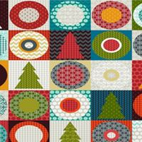 Deny Designs Geometric Xmas 18-Inch x 24-Inch Wall Art