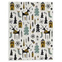 Deny Designs Christmas Wonderland 8-Inch x 10-Inch Canvas Wall Art