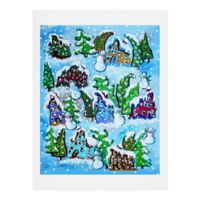 Deny Designs Snowman Whimsy 11-Inch x 14-Inch Paper Wall Art