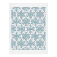 Deny Designs Snowflake 11-Inch x 14-Inch Paper Wall Art in Blue