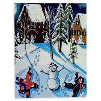 Deny Designs Snow Angels 8-Inch x 10-Inch Canvas Wall Art