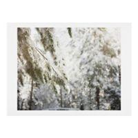 Deny Designs Snow Falling 11-Inch x 14-Inch Print Wall Art