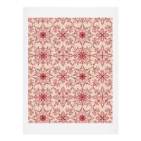 Deny Designs Snowflake Pattern 11-Inch x 14-Inch Print Wall Art