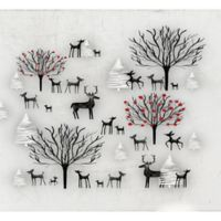 Deny Designs Winter Scene 18-Inch x 24-Inch Wall Art