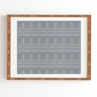 Deny Designs Fair Isle 14-Inch x 16.5-Inch Framed Wall Art