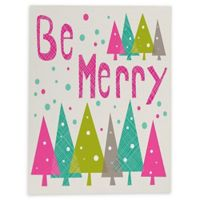 Deny Designs Be Merry 8-Inch x 10-Inch Canvas Wall Art