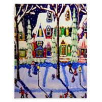 Deny Designs Snow Day Canvas Wall Art