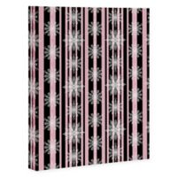 Deny Designs Frosty 8-Inch x 10-Inch Wrapped Canvas in Black/Pink