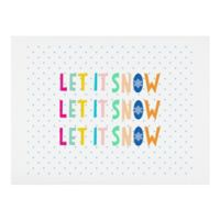 "Deny Designs ""Let It Snow"" Polka Dot 11-Inch x 14-Inch Wall Art"