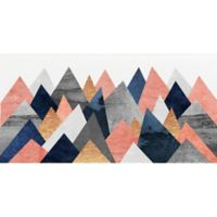 Deny Designs Pink and Navy Peaks 18-Inch x 24-Inch Paper Wall Art