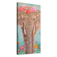 Julie Joy 6-Inch x 12-Inch Zen Elephant Canvas Wall Art in Brown