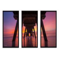 Tybee Island Pier in Georgia 24-Inch x 36-Inch Canvas Wall Art (Set of 3)