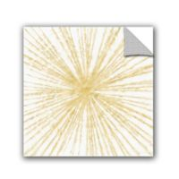 Linda Woods Spinning Gold Removable Vinyl 14-Inch x 14-Inch Wall Mural in Gold
