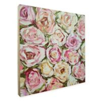 Emma Bell Box of Roses 36-Inch x 36-Inch Framed Wood Art in Pink