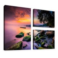 Cleveland Ohio Sunrise At Edgewater Beach 36-Inch x 48-Inch Canvas Wall Art (Set of 3)