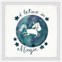 Marmont Hill I Believe in Unicorn 18-Inch Squared Framed Wall Art