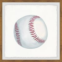 Marmont Hill Let's Play Baseball 18-Inch Squared Framed Wall Art