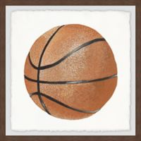 Marmont Hill Let's Play Basketball 18-Inch Squared Framed Wall Art