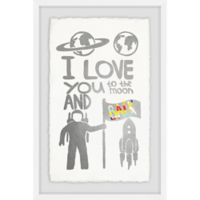 Marmont Hill I Love You to the Moon & Back 12-Inch x 18-Inch Framed Wall Art