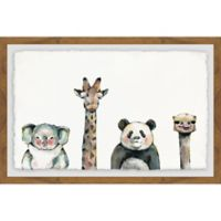 Marmont Hill Cute and Cuddly 36-Inch x 24-Inch Framed Wall Art
