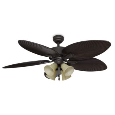 Ceiling Fans With Leaf Blades Buy 52 4 light ceiling fan from bed bath beyond palm clay 52 inch 4 light ceiling fan audiocablefo