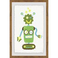 Marmont Hill I Am a Green Robot 16-Inch x 24-Inch Framed Wall Art