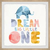 Marmont Hill Paperfold Dream Big Little One 12-Inch Squared Framed Wall Art