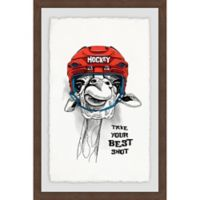 Marmont Hill Take Your Best Shot 16-Inch x 24-Inch Framed Wall Art
