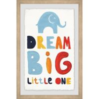 Marmont Hill Colorful Dream Big Little One 12-Inch x 18-Inch Framed Wall Art