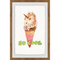 Marmont Hill Unicorn Ice Cream 16-Inch x 24-Inch Framed Wall Art