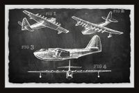 Marmont Hill Historical Airplane II 24-Inch x 16-Inch Framed Wall Art