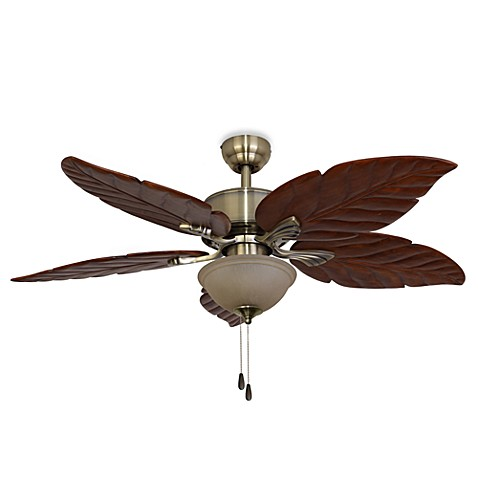 Buy 52 Inch Tortuga Aged Brass Ceiling Fan from Bed Bath