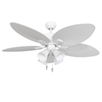 Beau 52 Inch Simonton 4 Light White Ceiling Fan