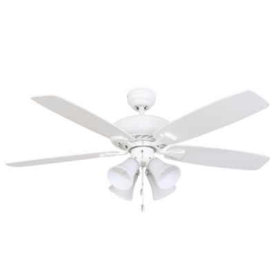 Merveilleux 52 Inch Fells Point 4 Light White Ceiling Fan