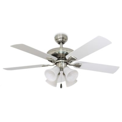 Buy 4 light white ceiling fan from bed bath beyond 52 inch federal hill 4 light brushed nickel ceiling fan mozeypictures Gallery