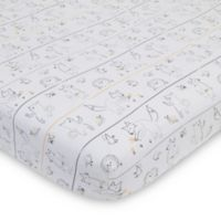 ED Ellen DeGeneres Woodland Animal Friends Fitted Crib Sheet in Ivory